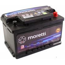 Akumulator samochodowy Moretti Premium 65AH/540A/P+