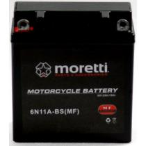 Bezobsługowy akumulator żelowy Moretti 6N11A-4B, 6V 11Ah