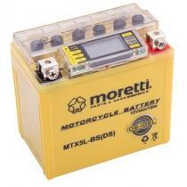 Bezobsługowy akumulator żelowy Moretti MTX5L-BS, 12V 5Ah ze wskaźnikiem