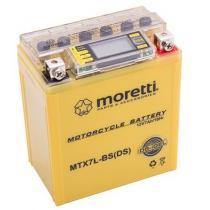 Bezobsługowy akumulator żelowy Moretti MTX7L-BS, 12V 7Ah ze wskaźnikiem