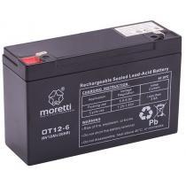 Bezobsługowy akumulator żelowy Moretti OT12-6, 6V 12Ah