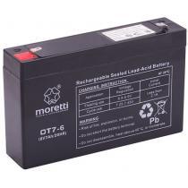 Bezobsługowy akumulator żelowy Moretti OT7-6, 6V 7Ah
