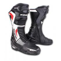 Buty na motocykl Kore Sport czarno-biało-czerwone