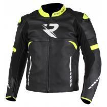 Kurtka motocyklova Street Racer Tour czarno-biało-fluo żółta wyprzedaż