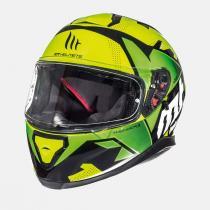 Dziecięcy kask motocyklowy MT Thunder Torn fluo zielony-żółty
