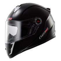 Dziecięcy kask motocyklowy LS2 FF392 Solid Junior czarny połysk