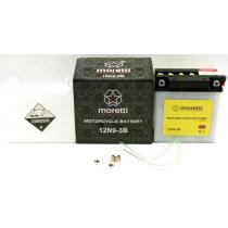 Akumulator kwasowo-ołowiowy Moretti 12N9-3B, 12V 9Ah
