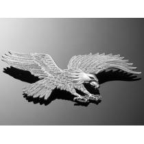 Samoprzylepny emblemat Highway Hawk, chrom