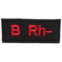 Naszywka z grupą krwi B Rh-