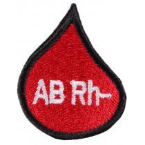 Naszywka z grupą krwi kropla AB Rh-