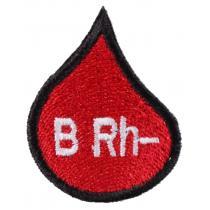 Naszywka z grupą krwi kropla B Rh-