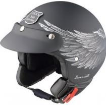 Otwarty kask motocyklowy Nexx X 60 Eagle Rider czarno-srebrny