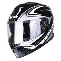 Kask motocyklowy Axxis Alert czarno-srebrny wyprzedaż