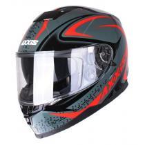 Kask motocyklowy Axxis Alert szaro-czerwony wyprzedaż