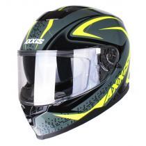 Kask motocyklowy Axxis Alert szaro-fluo żółty wyprzedaż