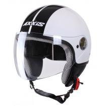 Kask moto otwarty Axxis Zyclo Bitone biało-czarny wyprzedaż