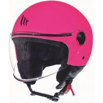 Otwarty kask motocyklowy MT Street różowy
