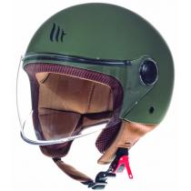 Otwarty kask motocyklowy MT Street zielony matowy