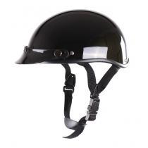 Kask motocyklowy braincap RSA Chopper czarny połysk
