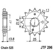 Front sprocket JT 15T, 525 rubber cushioned