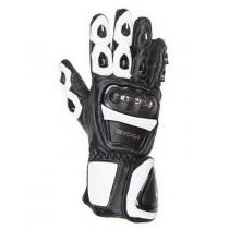 Moto rękawice Tschul 285 czarno-białe wyprzedaż