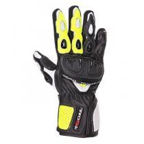 Moto rękawice Tschul 310 czarno-fluo żółte wyprzedaż