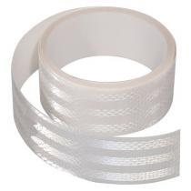Samoprzylepna taśma odblaskowa 5m x 5cm biała (rolka 5m)