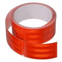 Samoprzylepna taśma odblaskowa 5m x 5cm czerwona (rolka 5m)