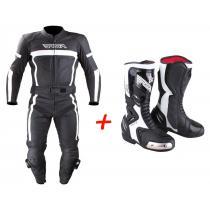 Zestaw: kombinezon na motocykl RSA Nero + moto buty RSA Racing II