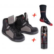 SET: Moto boty RSA TRA + Impregnace + funkční ponožky RSA Classic