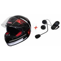 SET: Přilba na motorku RSA SR-01 + Bluetooth Intercom s FM do přilby