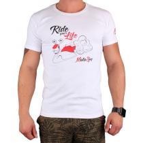 Koszulka z motywem Motozem Ride your life biała