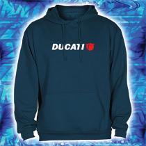 Bluza z motywem Ducati navy z kapturem wyprzedaż