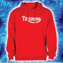 Bluza z motywem Triumph czerwona z kapturem wyprzedaż