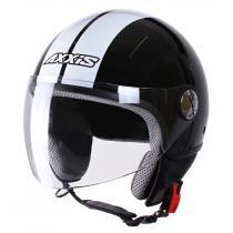 Kask moto otwarty Axxis Zyclo Bitone czarno-biały wyprzedaż