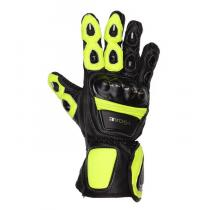 Moto rękawice Tschul 285 czarno-fluo żółte wyprzedaż